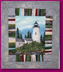 The Lighthouse Quilted Fabric Art